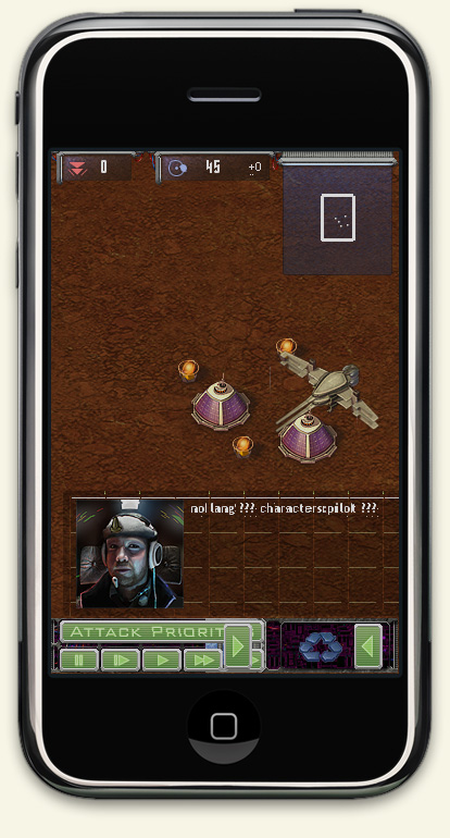 Early version of Harvest on iPhone